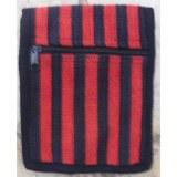 Sac passeport weaving rouge et noir