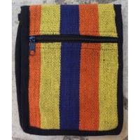 Sac passeport weaving jaune orange marine