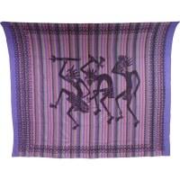 Tenture maxi rayée papous dance violet