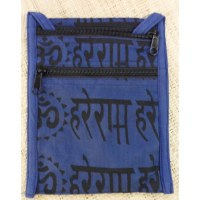 Sac passeport bleu sanscrit Aum
