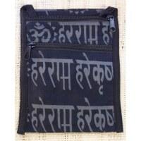 Sac passeport noir sanscrit Aum