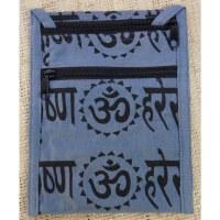Sac passeport gris bleu sanscrit Aum
