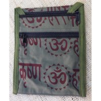 Sac passeport kaki sanscrit Aum