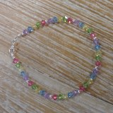 Bracelet perles cristal couleur