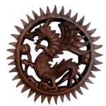Dragon ailé bois
