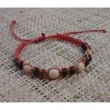 Bracelet  perles et macramé 1