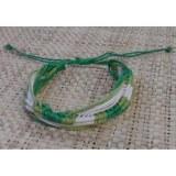 Bracelet  fantaisie vague vert