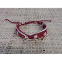 Bracelet fantaisie vague rouge