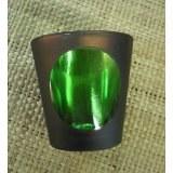 Photophore en  verre vert
