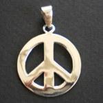 Pendentif argent Peace & Love