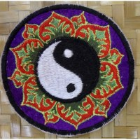 Patch yin yang lotus mauve