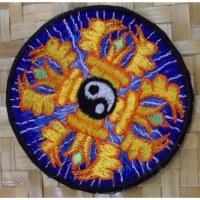 Patch yin yang vajra bleu