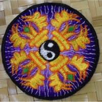 Patch yin yang vajra violet