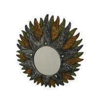 Miroir soleil argent