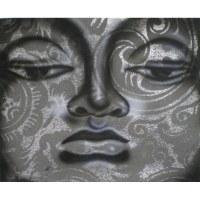 Petit tableau Bouddha grey
