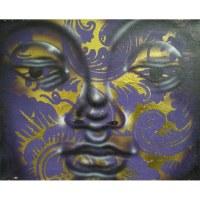Petit tableau Bouddha bicolore