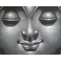 Petit tableau gris Bouddha