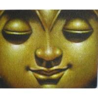 Petit tableau jaune Bouddha