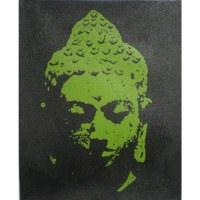 Petit tableau vert Bouddha le bienveillant