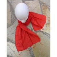 Foulard Isan soie rouge