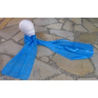 Foulard Isan soie bleue