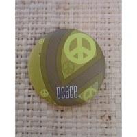 Badge vert symbole de paix