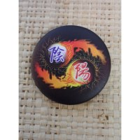 Badge fire yin yang
