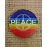 Badge arc en ciel peace and love