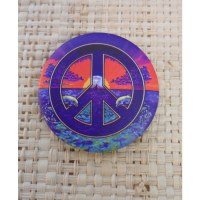 Badge dauphins peace and love