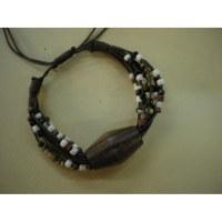 Bracelet perles et coton