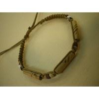 Bracelet coton perles pyro