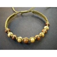 Bracelet coton et perles rondes