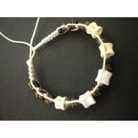 Bracelet 1 coton et perles