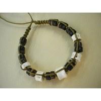 Bracelet 2 coton et perles