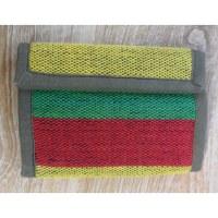 Portefeuille weaving rasta