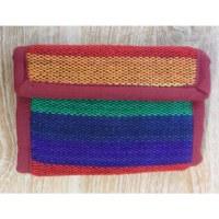 Portefeuille weaving rainbow