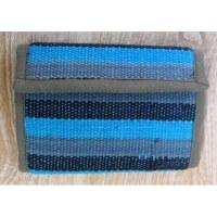 Portefeuille weaving bleu clair