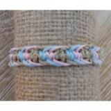 Bracelet sisalia turquoise et rose