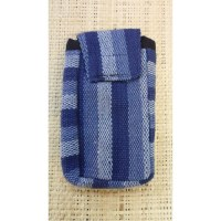 Pochette portable weaving bleu