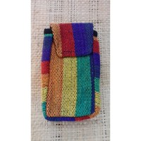 Pochette portable weaving rainbow