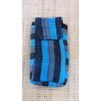Pochette portable weaving bleu clair