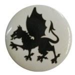 Badge dragon noir