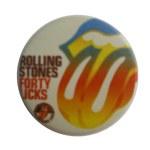 Badge rainbow rolling stones