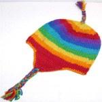 Bonnet péruvien arc-en-ciel