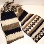 Bonnet doublé écharpe