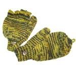 Mi-moufles jaune/vert