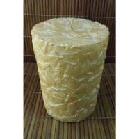 Bougie ronde kemboja dorée