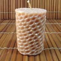 Bougie ronde nid d'abeille nacrée