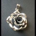 Pendentif arg Rose