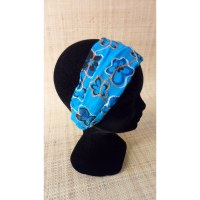 Bandeau cheveux floralia bleu